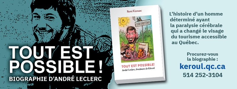 Bannière de la biographie Tout est possible d'André Leclerc par René Kirouac
