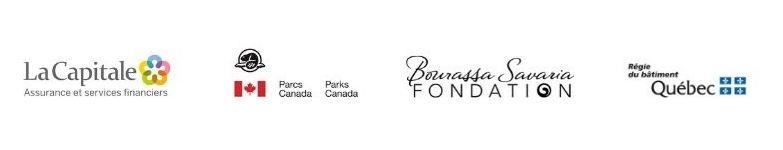 Logos des partenaires, La Capitale, Parcs Canada, Savaria et RBQ