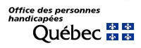 Logo Office des personnes handicapées du Québec.