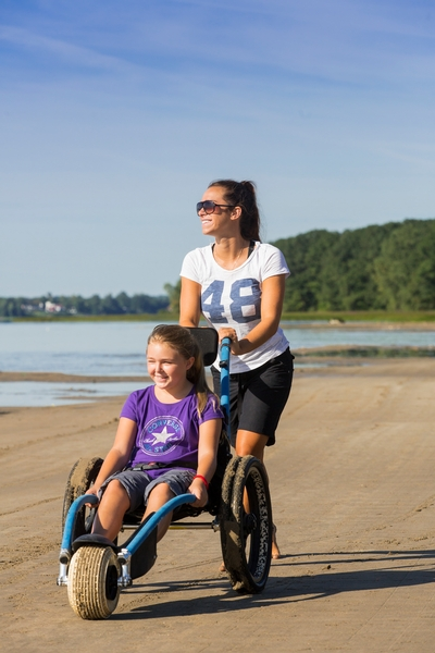 Hippocampe on a beach (beach wheelchair)